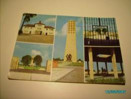 BUCHENWALD CONCENTRATION CAMP ,  GATE  ARBEIT MACHT FREI , MONUMENT  , POSTCARD  , O - Monumenti