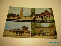 BUCHENWALD CONCENTRATION CAMP ,  GATE  , MONUMENT  , POSTCARD  , O - Monumenti