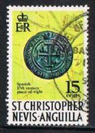 St Christopher Nevis Anguilla SG214a 1970 Definitive 15c Good/fine Used - St.Christopher-Nevis-Anguilla (...-1980)