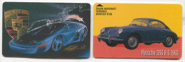 Car Auto Automobile - PORSCHE - Phonecards Telecartes Telefonkarten, 2 Pieces - Cars