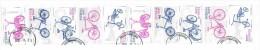 STRIP Of 10  BICYCLE Stamps - 2011 -  Sweden/Sverige - Blocchi & Foglietti
