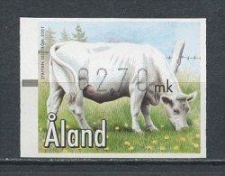 ALAND DISTRIBUTEUR 2001 N° 10 ( 2,70 ) ** Neuf = MNH Superbe Faune Animaux De Ferme Vache Fauna - Aland