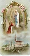 Lourdes - Andachtsbild Mit Heiliger Jungfrau Maria - Rückseite Gebet