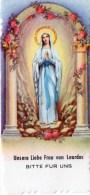 Andachtsbild - Unsere Liebe Frau Von Lourdes Bitte Für Uns - Rückseite Gebet - Religion &  Esoterik