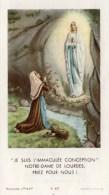 """Andachtsbild - """" Je Suis L´immacilée Conception """" Notre - Dame De Lourdes - Priez Pour Nous !- Rückseite Gebet"""