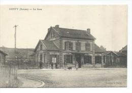 561512- 80-  CONTY La Gare - Petite Animation - Conty