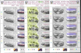 Falkland Islands 2002 20th Anniversary Of Liberation 6v In 3 Sheetlets ** Mnh (26821) - Falklandeilanden