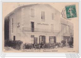 MO-  CASTELJALOUX   EN LOT ET GARONNE CAFE DU PROGRES ETS BERNET  CPA  CIRCULEE - Casteljaloux