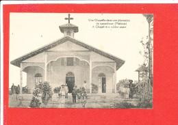 MALAISIE MALAYSIA  Cpa Animée Une Chapelle Dans Une Plantation Edit M E - Malaysia
