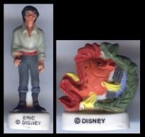 Lot De 2 FÈVES - Série La Petite Sirene Sous L'océan - Eric Et Le Poisson - Disney - Disney