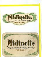 Etiquette - MIDINETTE - AU GAZ NATUREL DE SOURCE DE VICHY PUR SUCRE   - Soda Limonade - Etiquettes