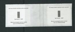 K 28 R 90b Tekst Sprintpak  Boven En Onder In Paar Door Band Onderbreking - Rouleaux
