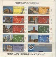 YEMEN ARAB REPUBLIC Perforated Sheet Mint Without Hinge - 1970 – Mexique