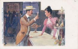 Illustrateur S.T., Phillip Et Kramer L.10, Champagne, Couple,( Rare) - Otros Ilustradores