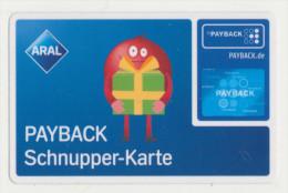 Payback Karte - Aral - Payback Schnupper-Karte  -   ( Kennung : 16001008 ) !!!!! ( 389 ) - Unclassified