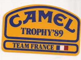 AUTOCOLLANTS CAMEL Trophy 1989 - Autocollants