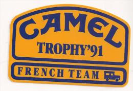 AUTOCOLLANTS CAMEL Trophy 1991 - Autocollants