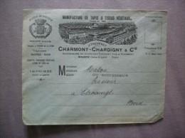 MACON  CHARMONT-CHARDIGNY & Cie MANUFACTURE DE TAPIS & TISSUS VEGETAUX ENVELOPPE - France