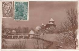 Burg Liechtenstein Mit Mischfrankatur Auf Vorderseite ! - Liechtenstein