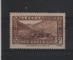 ANDORRE ANDORRA N°43 NEUF SANS CHARNIERE TTB ** - Unclassified