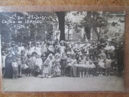 CARTE PHOTO BAL DES ENFANTS CASINO DE LAMALOU 1932 - France