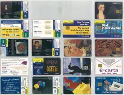 LOTTO 9 SCHEDE TELEFONICHE USATE MESSICO - Télécartes