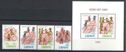 1993 SURINAM 1306-9+ BF 66** Enfance, Marelle - Surinam