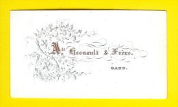 CARTE VISITE Ca1850 GENT Visitekaart Architecte Hesnault & Fr. GAND CARTE PORCELAINE PORSELEINKAART Porceleinkaart 1359 - Cartes De Visite