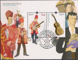 2014 Azoren  Acores Mi. Bl  55 Used   Viola-da-Terra-Spieler - Europa-CEPT