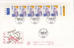 France FDC Booklet 1991 Carnet Journee Du Timbre 1991 (L75-9B) - Carnets
