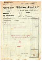 1942--ROUEN--76-Quincaillerie DELABARRE,GODARD & Cie-Lettre-facture à En-tête Pour FRESSENNEVILLE-80-timbrée - 1900 – 1949