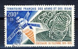 Afars Et Issas 1976 Centenaire Téléphonique N. 419 Fr. 200 Usato Catalogo € 4 - Afars & Issas (1967-1977)