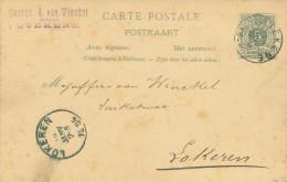 398/21 - Entier Postal Avec Réponse Type Lion Couché STEKENE 1894 - Cachet Georges Van Winckel , Notaris - Postwaardestukken