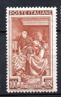 1950 Repubblica Italia Al Lavoro 100 Lire N. 651 Nuovo MLH* - 1946-60: Nieuw/plakker