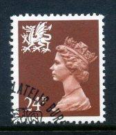 Great Britain Regionals - Wales - 1971-93 Machin - 24p Chestnut Used (SG W59) - Wales