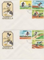 Anguilla FDC 1984 Los Angeles Olympics - Decathlon - Cartoons - Anguilla (1968-...)
