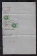 Brazil Brasil 1871 Cover Fragment TAUBATE REGISTRADO PM To Rio De Janeiro - Briefe U. Dokumente