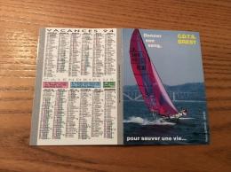 """Calendrier 1994 """"Donner Son Sang, Pour Sauver Une Vie CDTS BREST (voilier, Rade, Pont De Plougastel)"""" (10,5x15cm) - Petit Format : 1991-00"""