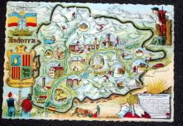 Andorre Andorra - Jolie CPSM Département Illustration Blason - Andorre