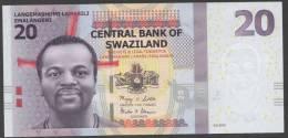 SWAZILAND :  20 Emalageni – 2010 -  UNC - Swaziland