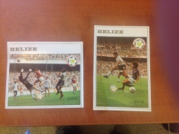 Belize 1982 World Cup 2 X Minisheets MNH - Belize (1973-...)