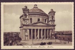 Old Malta Postcard Circa 1930s Showing Musta Dome Mosta - Malte