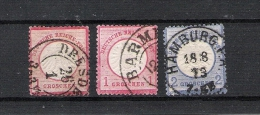 Allemagne N° 4, N° 16 Et N° 17 Oblitérés Cote 17€ - Deutschland