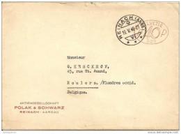 Zwitserland : Lettre De Reinach Naar Roeselare / Machinestempel / EMA    1948 - Switzerland