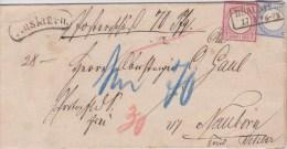 Germany; Cash On Delivery (Wertbrief) 1875 - Large Shield - Briefe U. Dokumente