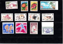POLYNESIE FRANCAISE  - Années Complètes 1960 / 1963  Yvert °  14 / 25 ** MNH  Cote 175€ - French Polynesia