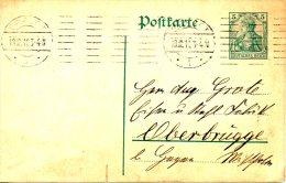ALLEMAGNE. Carte Pré-timbrée Ayant Circulé. Oblitération : Erfurt. - Briefe U. Dokumente