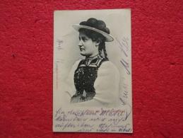 Germany Gruss Aus Dem Schwarzwald Trachten Costume Timbre Hausach 1902 - Gruss Aus.../ Gruesse Aus...