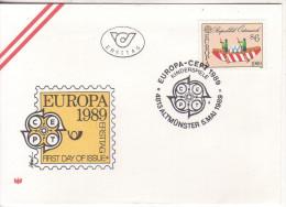FDC 1989 - Mi 1956 : EUROPA : Kinderspiel , SST 4813 Altmünster - 1945-.... 2ème République