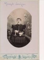 Photo Ancienne 11x16.5cm Portrait D´un Militaire Du 103ème Régiment De Chasseurs 103 - Photo Branchu Paris - War, Military